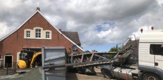 Sattelschlepper umgeschlagen in Loquard