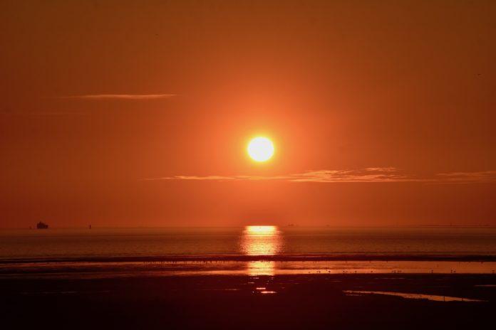 Sonnenuntergang in Loquard Krummhörn